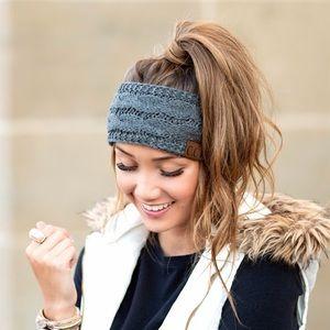 CC Cable Knit Gray Headband